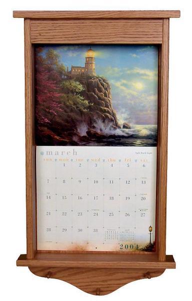 Amish Hardwood Plain Calendar Frame