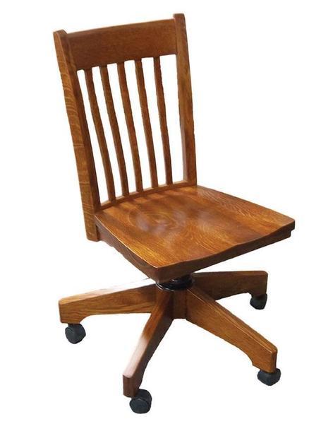 Amish Hardwood Secretary Desk Chair