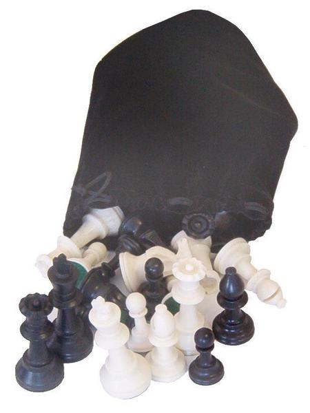 Amish Chess Pieces Set with Bag