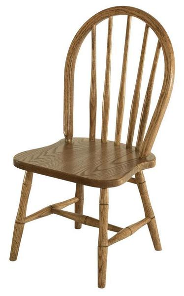 Amish Hardwood Child's Spindle Bow Chair