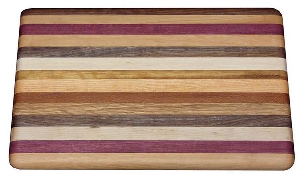 Amish Handcrafted Large Exotic Wood Cutting Board