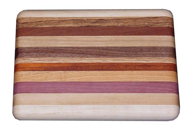 Amish Handcrafted Small Exotic Wood Cutting Board