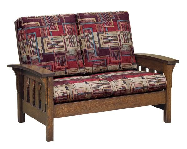 American Made Bow Arm Loveseat