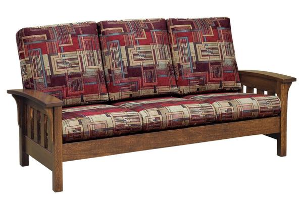 Amish American Made Bow Arm Sofa