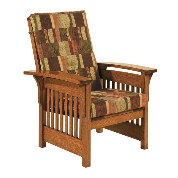 Amish Bow Arm Mission Slat Lounge Chair