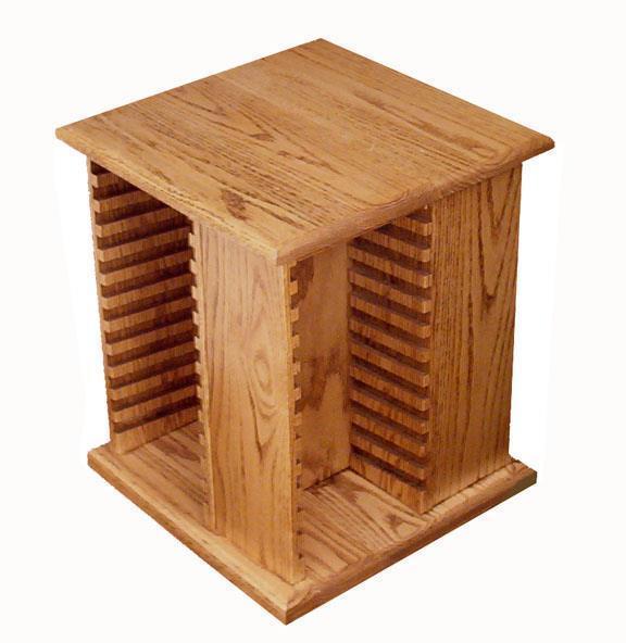 Amish Hardwood Small DVD Tower