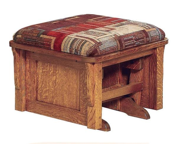American Bow Arm Panel Ottoman