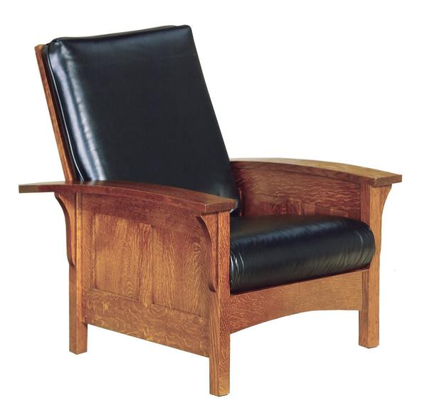 American Bow Arm Panel Mission Morris Chair