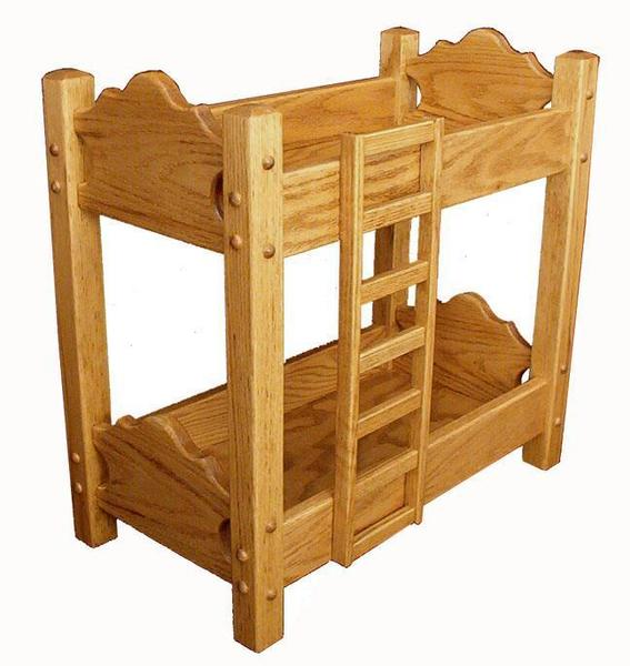 Hardwood Doll Bunk Bed From Dutchcrafters Amish Furniture