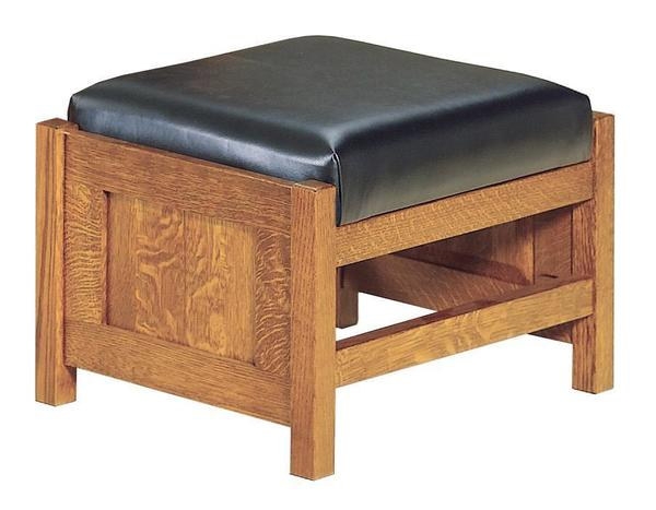 American Bow Arm Panel Mission Morris Footstool
