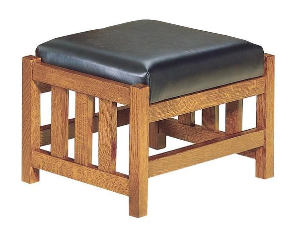 American Bow Arm Slat Mission Morris Footstool