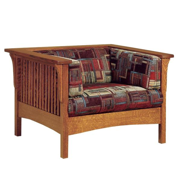 Amish Mission Slat Living Room Accent Chair