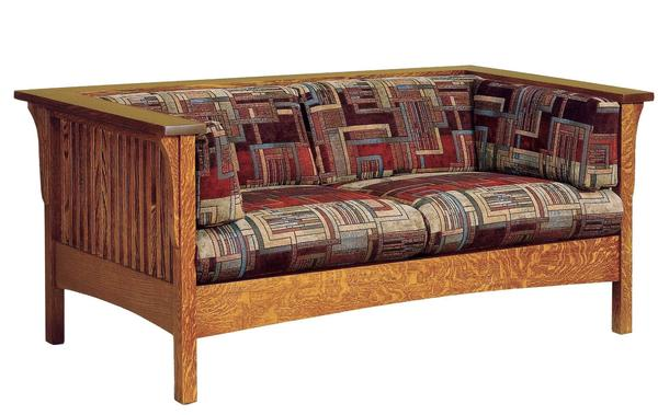 Amish Mission Slat Loveseat