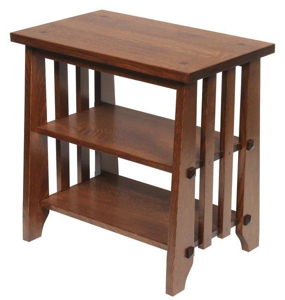 Amish Hardwood Stick Mission End Table