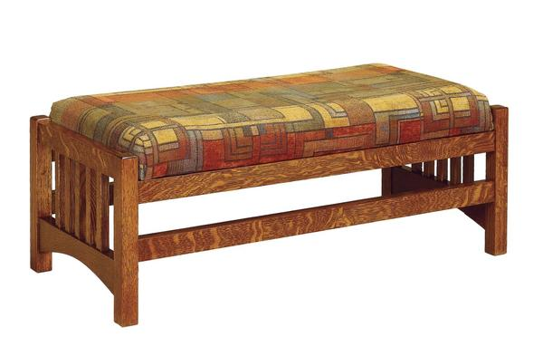 Amish Mission Slat Large Footstool