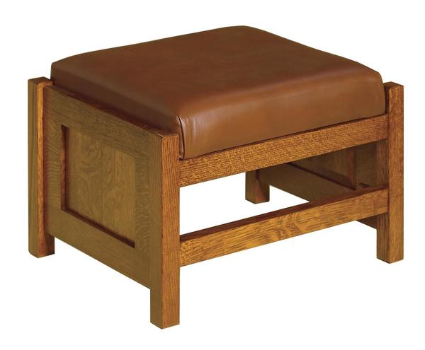Amish Mission Cubic Panel Footstool