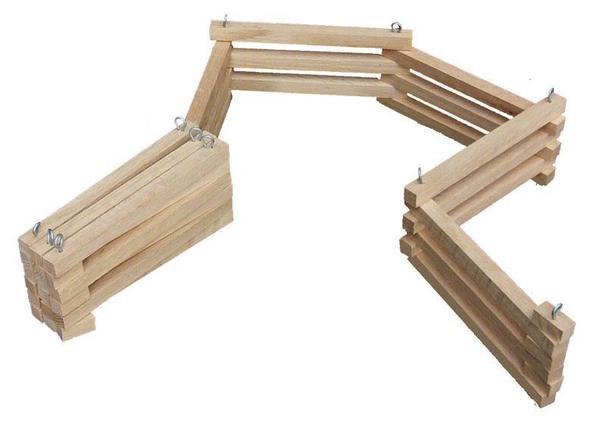 Amish Hardwood Folding Toy Fence