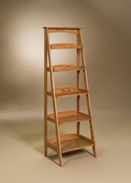 Display Shelves For Collectibles >> Ladder Bookshelf from DutchCrafters Amish furniture