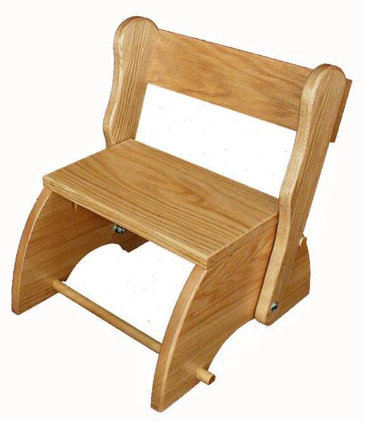 Amish Hardwood Child's Folding Stool