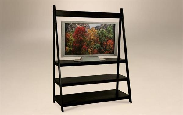 Amish Contemporary TV Stand with Open Shelves