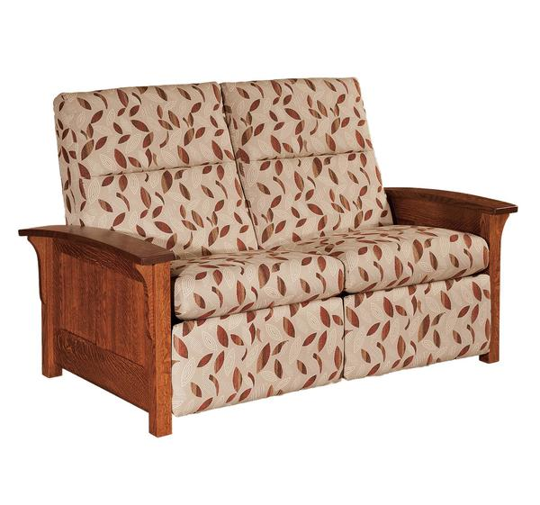 Amish Panel Mission Reclining Loveseat