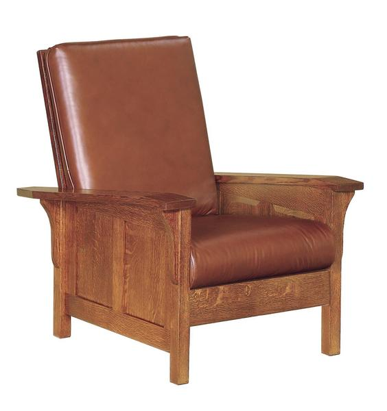 Amish Clearspring Panel Mission Morris Lounge Chair