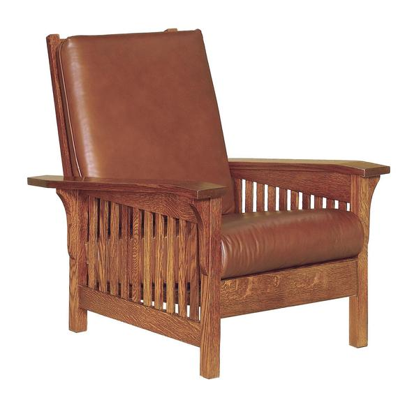 Amish Clearspring Slat Mission Morris Chair