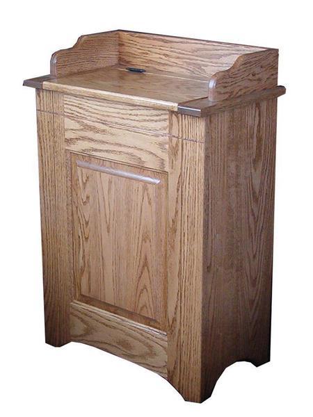 Amish Hardwood Raised Panel Laundry Hamper