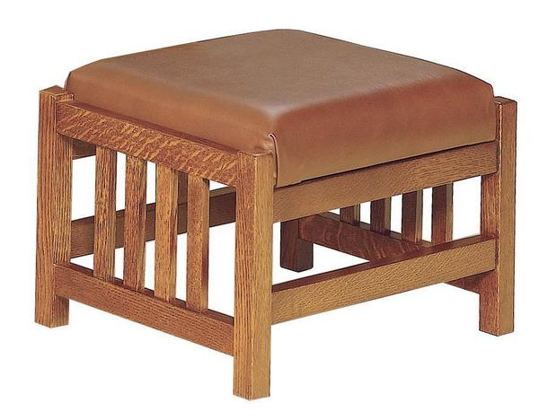 Amish Clearspring Slat Mission Morris Footstool
