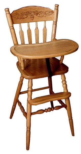 Amish Little Acorn Wooden High Chair
