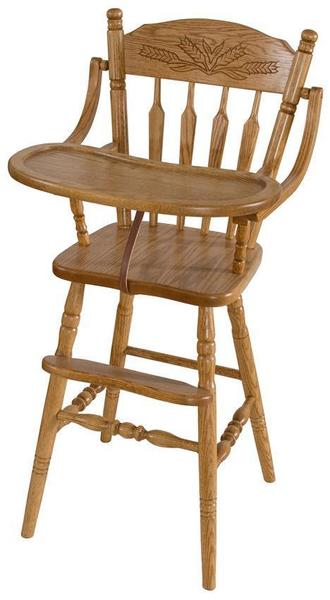 Amish Farmhouse Wooden High Chair