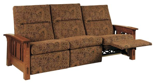 Amish McCoy Mission Wall Hugger Reclining Sofa