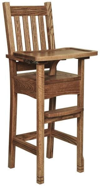 Amish West Lake Wooden High Chair