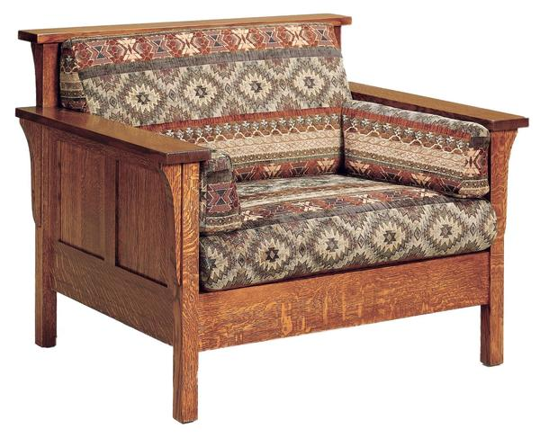Amish High Back Panel Mission Lounge Chair