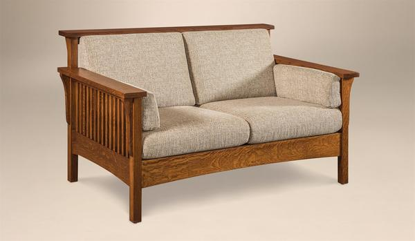 Country Mission Loveseat From Dutchcrafters Amish Furniture