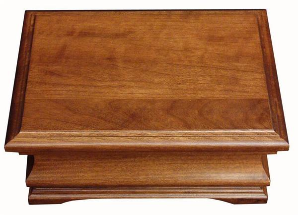 Amish Hardwood Medium Jewelry Box with Plain Lid