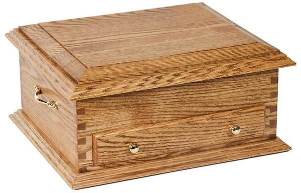 Amish Hardwood Deluxe Jewelry Chest with Lid