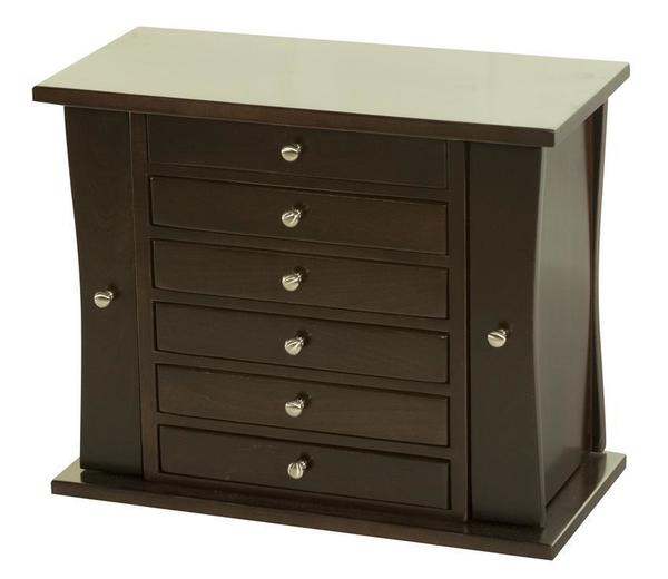 Amish Hardwood Caledonia Six Drawer Jewelry Chest