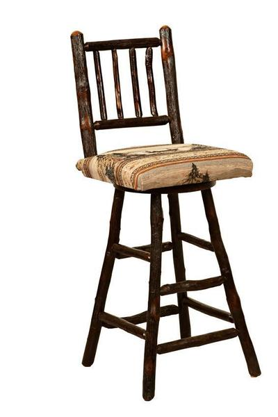 Amish Westville Bar Stool with Spindle Back
