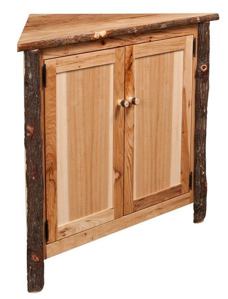 Amish Rustic Hickory Corner Buffet