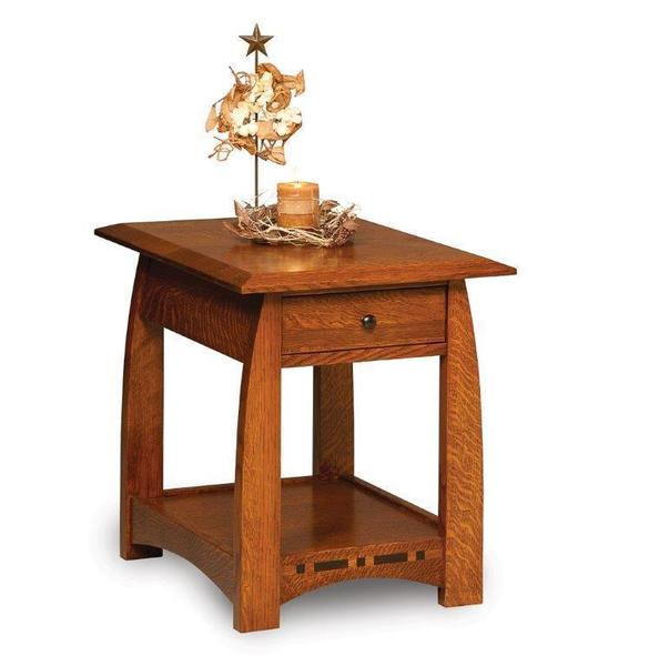 Amish Boulder Creek Open End Table with Drawer