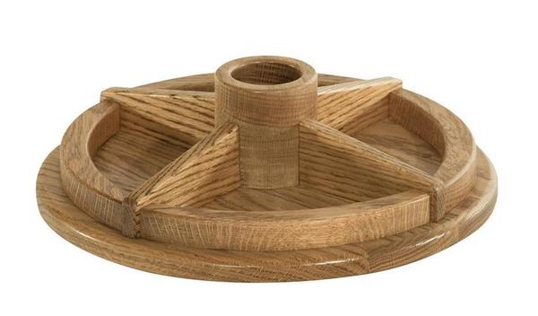 Amish Hardwood Office Lazy Susan