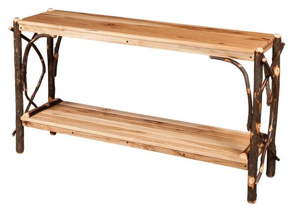 Amish Rustic Wood Sofa Table