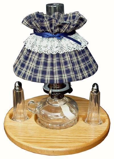 Lazy Susan Set with Oil Lamp and Salt and Pepper Shakers