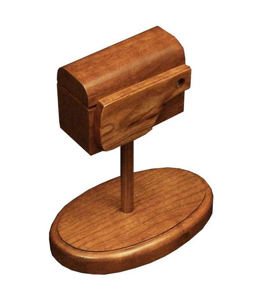 Amish Hardwood Mailbox Stamp Dispenser