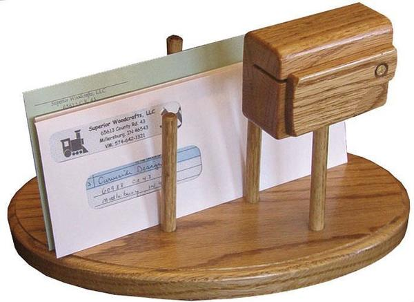 Wood Mail Organizer and Stamp Dispenser