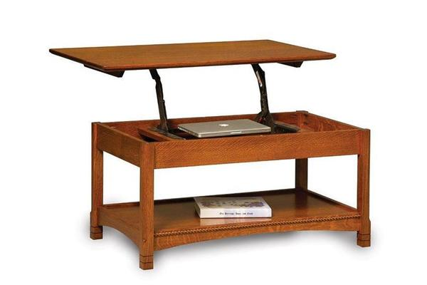 Amish West Lake Open Lift Top Coffee Table