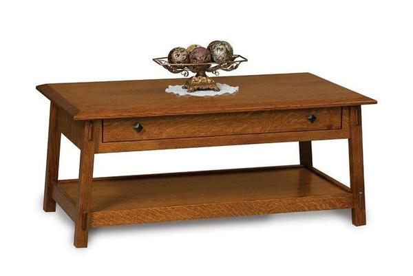 Amish Colbran Mission Coffee Table with Drawer