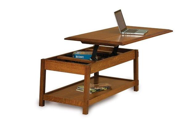 Amish Colbran Mission Open Lift Top Coffee Table