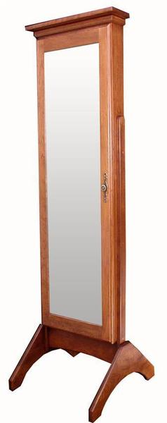 Amish Hardwood Plain Jewelry Mirror